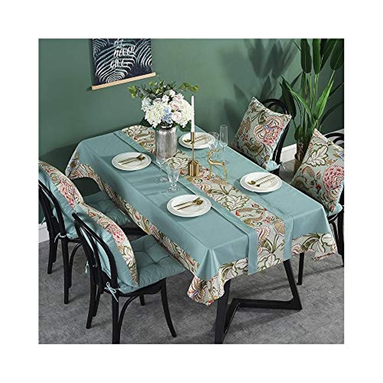 シンプトン兵器庫塩辛いテーブルクロス長方形の家庭用の小さな新鮮な布地のプレースマット防水アンチスカーディングオイル LUYIYI (Color : A, Size : 1.4m*1.8m)