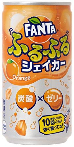 コカ・コーラ ファンタ ふるふるシェイカー 炭酸 ゼリー オレンジ 缶 180ml×30本