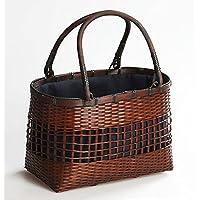 かごバッグ  アジアン風   竹製バスケット    手提げカゴ  竹製網代籠