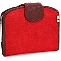 LDUNDUN-BAG, 2019 Women's Fashion Hand Bag Women's Wallet Long Horsehair Leather Women's Wallet Clutch Bag (Color : Red, Size : S)