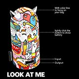 EMIE 『チョコ以外に何か残る物を贈りたい!』 ザー悪魔 5200mAh 超コンパクト ポータブル モバイルバッテリー 充電器 外部バッテリー パワーバンク スペシャルLEDライトディスプレイ付 iPhone 6 Plus 6 5S 5C 5 4S iPadSamsung Galaxy S5 I9600 Neo S4 I9500 I9190 S3 I9300 S3 I8190 S2 Note 3 N9000 Gear HTC Sensation One X S EVO 3D 4GNexus 4 7 10LG Optimus VBlackberry Z10 Z30 Q5 Q10 Bold Curve Torch Motorola Nokia Lumia 1020 920PS VitaGopro各社のスマートフォンとタブレットに対応 -人間