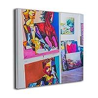 Wale-J アートワーク カラフル 写真 アート 装飾 ポスター アートワーク 壁 ホーム オフィス デコレーション