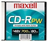 Maxell 648721 700mb 80 48x Single Printable Matte [オンデマンド(CD-R)]