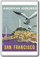 San Francisco, American Airlines, Usa - Vintage Travel Fridge Magnet - ?????????