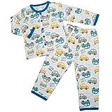 ボーイズ|キッズ|パジャマ[enfant pur]長袖パジャマ上下セット|くるま|車柄|寝間着|接結パジャマ|男の子|男児|ボーイズ|子供用 120cm ブルー