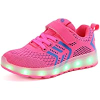 bevoker Kids LED Shoes Upgraded Led Strip Light up Shoes Stainers for Boys Girls