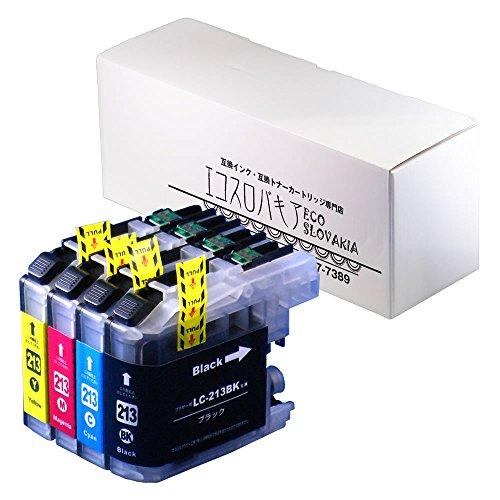 ブラザー 用 互換 LC213-4PK 4色パック BK C M Y 各1本 全4本 互換インク ICチップ付 保証付 ISO取得工場製造 DCP-J4225N MFC-J4720N 他対応