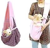 Meilleur reve 【リバーシブルで使える】選べる 3色 中型 小型 犬用 抱っこ ショルダー スリング バッグ おんぶ 紐 ペットキャリー 斜めがけ 手ぶら (1グレー)