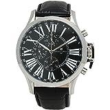 [サルバトーレマーラ]Salvatore Marra 腕時計 メンズウォッチ 多軸リューズカバー付 革ベルト SSBK SM14123-SSBK メンズ