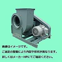テラル シロッコファン CLF6-No.3-OB-B-e (5.5kW) (屋内仕様) (床置形) (ケーシング標準仕様(カシメ構造)) TV-L(上部垂直吐出左回転) 50Hz