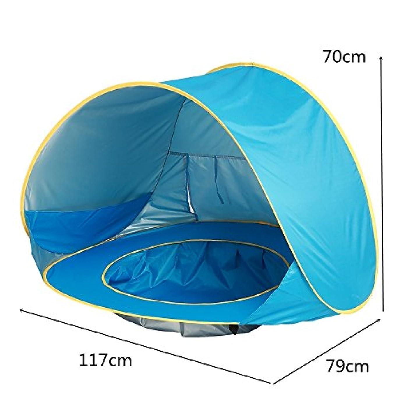 滑り台霊離れたLWT 子供用テントサンスクリーン防水完全自動ゲームビーチ屋外子供用プールベビー用保護テント