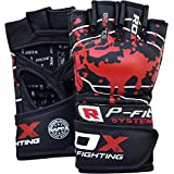 RDX MMA Gloves Sparring Martial Arts Cowhide Leather Grappling Training UFC Cage Fighting Combat Punching Bag Gel Mitts