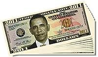 Barack Obama 2011Federal Reserve注意–10Count withボーナスクリアプロテクター& Christopher Columbus Bill