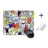 マウスパッド かわいい 猫 猫柄 萌え おしゃれ 人気 キャラクター イラスト カラフル 滑り止めマウスパッド 22cm*18cm