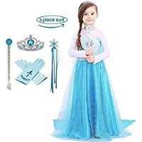 Domiray Little Girls Elsa Princess Dress Costume