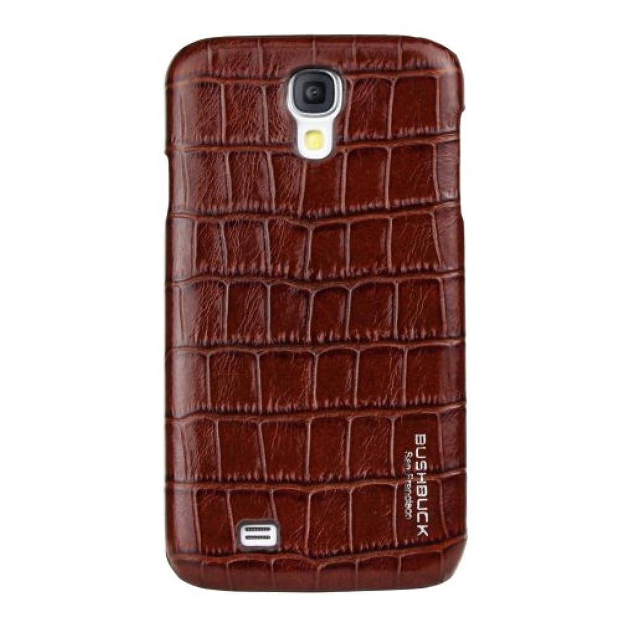 プレビスサイト政治家の軍団BUSHBUCK 【Docomo Galaxy S4用クロコダイル柄本革ケース】Caiman Genuine Leather Case (ワンセグアンテナ非対応) ブラウン SUS4CNBN