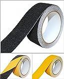 B.H. Select すべり止め ノンスリップ テープ 50mm×5m 階段 床 屋外 屋内 はがれにくい 耐久性 防水 (ブラック(3個セット)) BH68-8