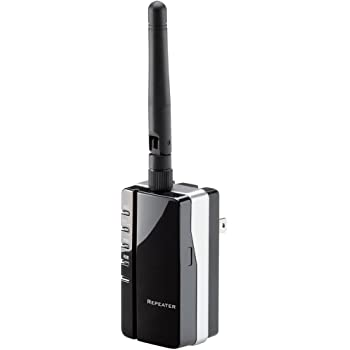 Logitec 無線LAN中継機 300Mbps 【PS4対応】 LAN-RPT01BK