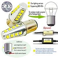 Wiseshine 8000k bax15d led 電球 DC9-30v 3年間の品質保証(2パック) bax15d 16 led 高出力 クールホワイト