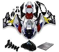 9FastMotobmw 2012 2013 2014 S1000RR 12 13 14 S 1000 RR 用フェアリング オートバイフェアリングキット ABS 射出成形セット スポーツバイク カウル パネル (レッド & ブラック) D0342