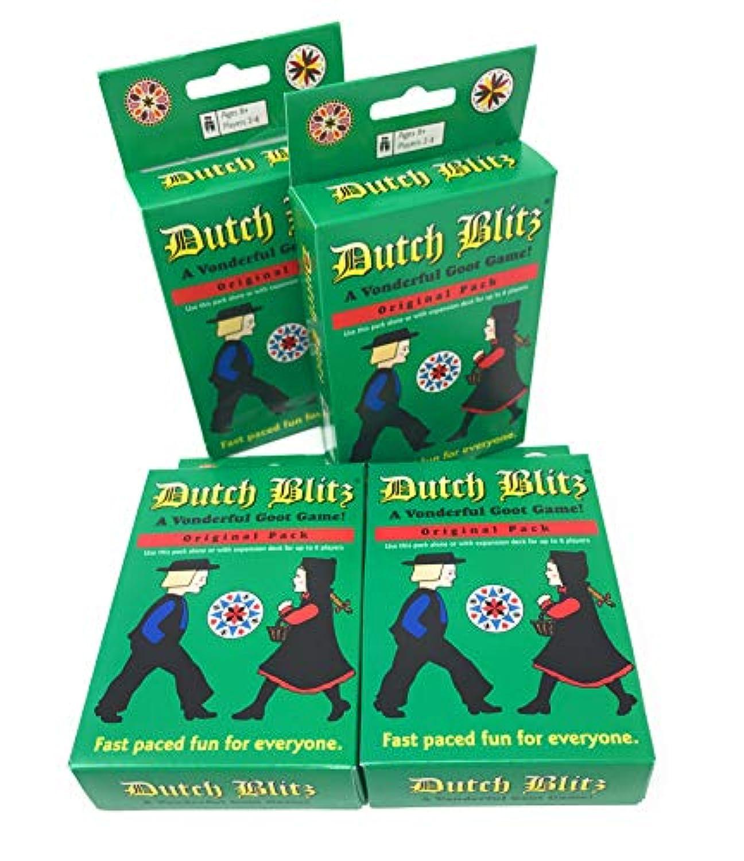 Dutch Blitz カードゲーム オリジナルパック 4パック