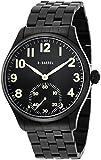 [ビーバレル]B-Barrel 腕時計 機械式スモールセコンド(手巻式) ブラック×IPブラックメタル BB0040BKAR メンズ