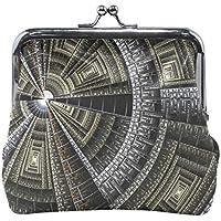 がま口 財布 口金 小銭入れ ポーチ 壁 丸 科学 Jiemeil バッグ かわいい 高級レザー レディース プレゼント ほど良いサイズ