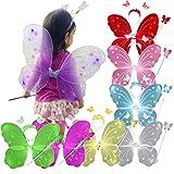 (トレテゾーリ)tre tesori 妖精 ちょうちょ 羽根 子ども ハロウィン クリスマス コスチューム セット 紫