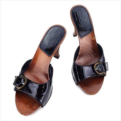 (サルヴァトーレフェラガモ)Salvatore Ferragamo サンダル シューズ 靴 レディース ハイヒール ウッドガンチーニ 中古 L1574