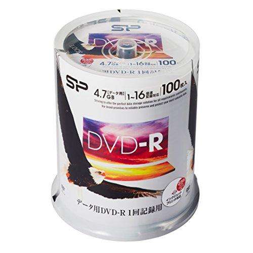 シリコンパワー データ用DVD-R 4.7GB 1-16倍速対応 ホワイトワイドプリンタブル 100枚スピンドル SPDR47PWC100S