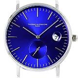 [Thomas Alexandre]トーマ・アレクサンドル 腕時計 フランス 替えベルト対応 ミニマル メンズ/レディース時計 (ブルー)