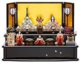 雛人形 真多呂 ひな人形 木目込人形飾り 段飾り 五人飾り 真多呂作 古今段飾り 花園雛 官女付 正絹 伝統的工芸品 h303-mt-1368