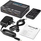 Fosmon 5入力1出力 自動切替 HDMI スイッチ 切替器 セレクター 分配器 4K/3D対応