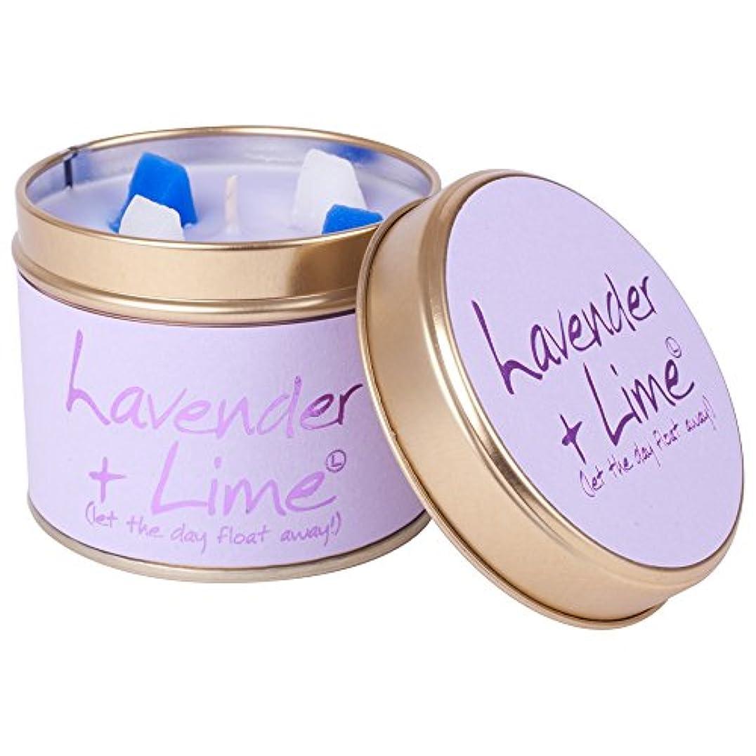 ティームそれから強調するLily-Flame Lavender and Lime Scented Candle Tin (Pack of 6) - ユリ炎ラベンダー、ライムの香りのキャンドルスズ (Lily-Flame) (x6) [並行輸入品]