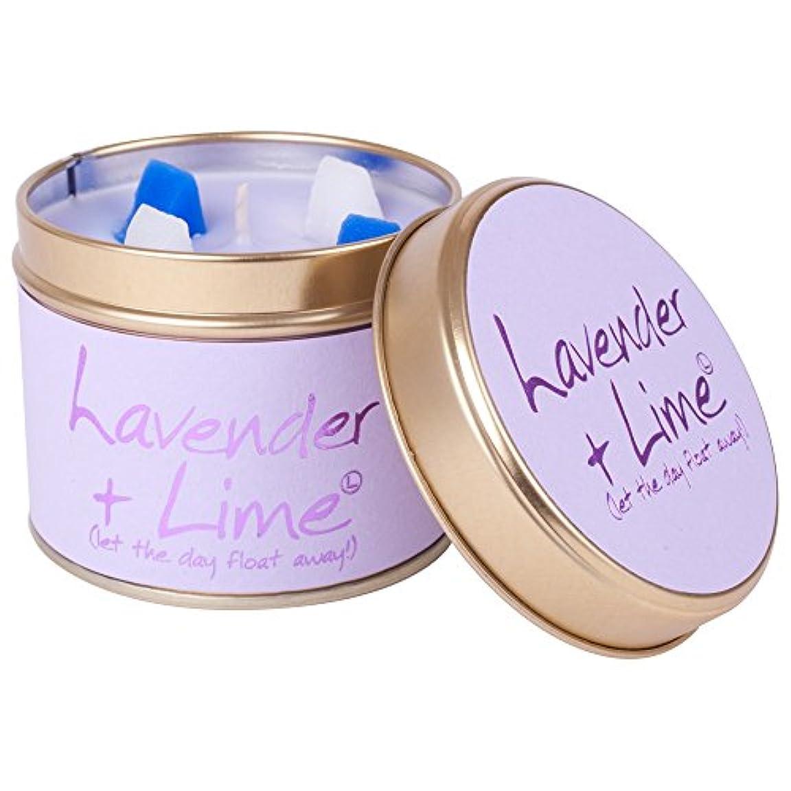 サスペンションマーカーぎこちないLily-Flame Lavender and Lime Scented Candle Tin (Pack of 6) - ユリ炎ラベンダー、ライムの香りのキャンドルスズ (Lily-Flame) (x6) [並行輸入品]