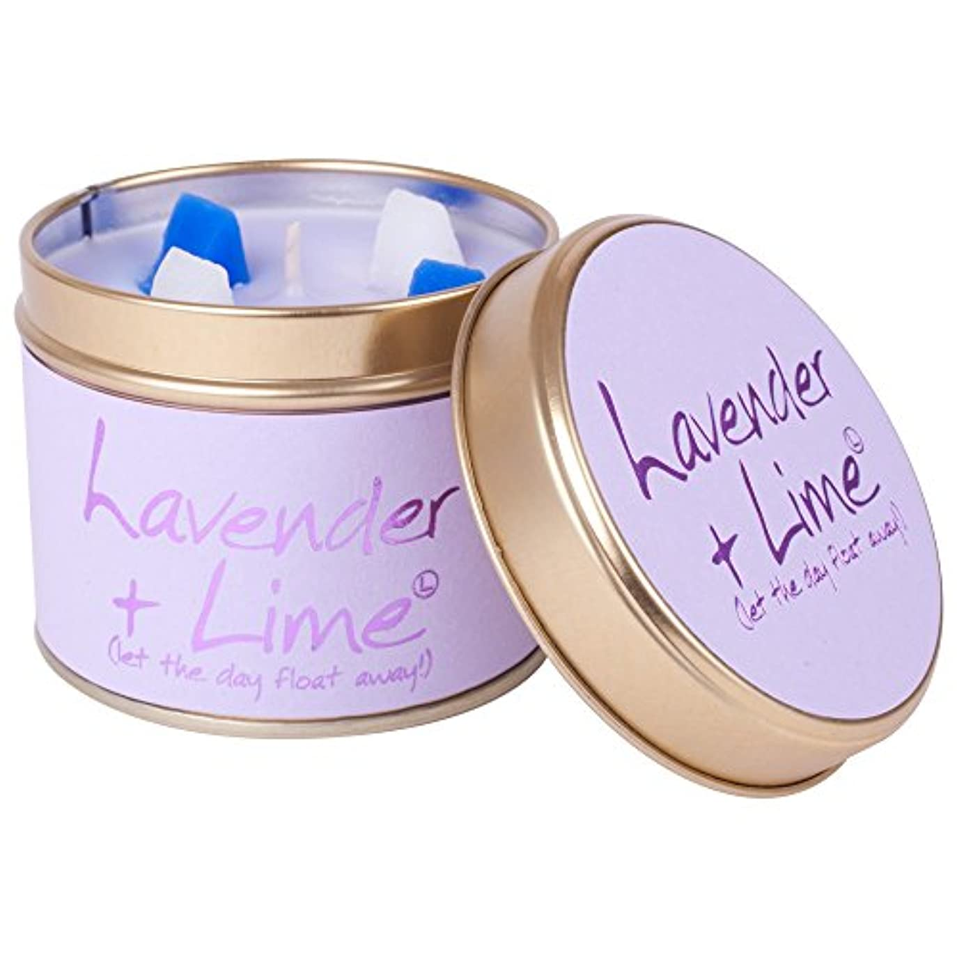 サロン平野入口Lily-Flame Lavender and Lime Scented Candle Tin (Pack of 6) - ユリ炎ラベンダー、ライムの香りのキャンドルスズ (Lily-Flame) (x6) [並行輸入品]
