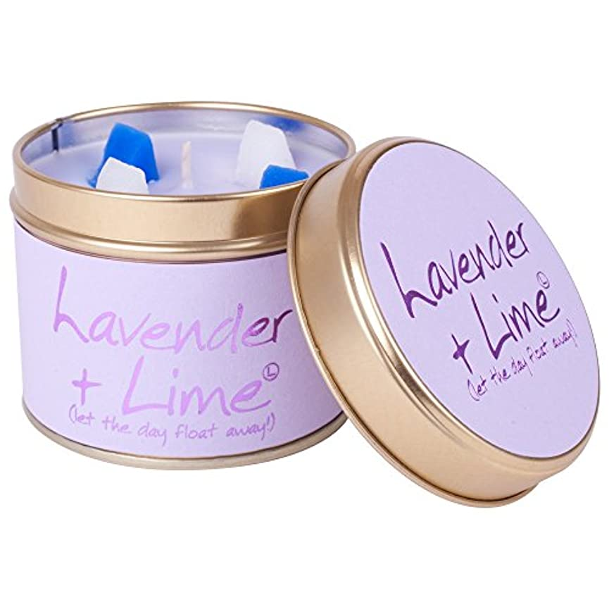 支払うほんのファンシーLily-Flame Lavender and Lime Scented Candle Tin (Pack of 6) - ユリ炎ラベンダー、ライムの香りのキャンドルスズ (Lily-Flame) (x6) [並行輸入品]