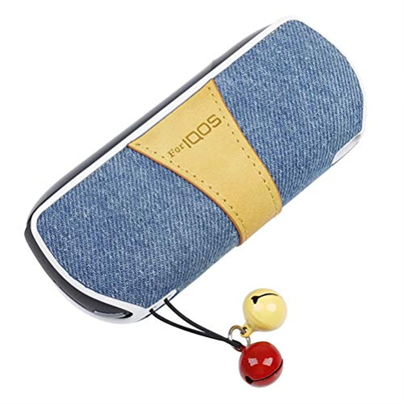 月曜ディレクトリデコードするKumi アイコスカバーケース iqos3 完全保護 薄い 軽量 USB充電穴 収納 クリア ブランド (F ブルー)