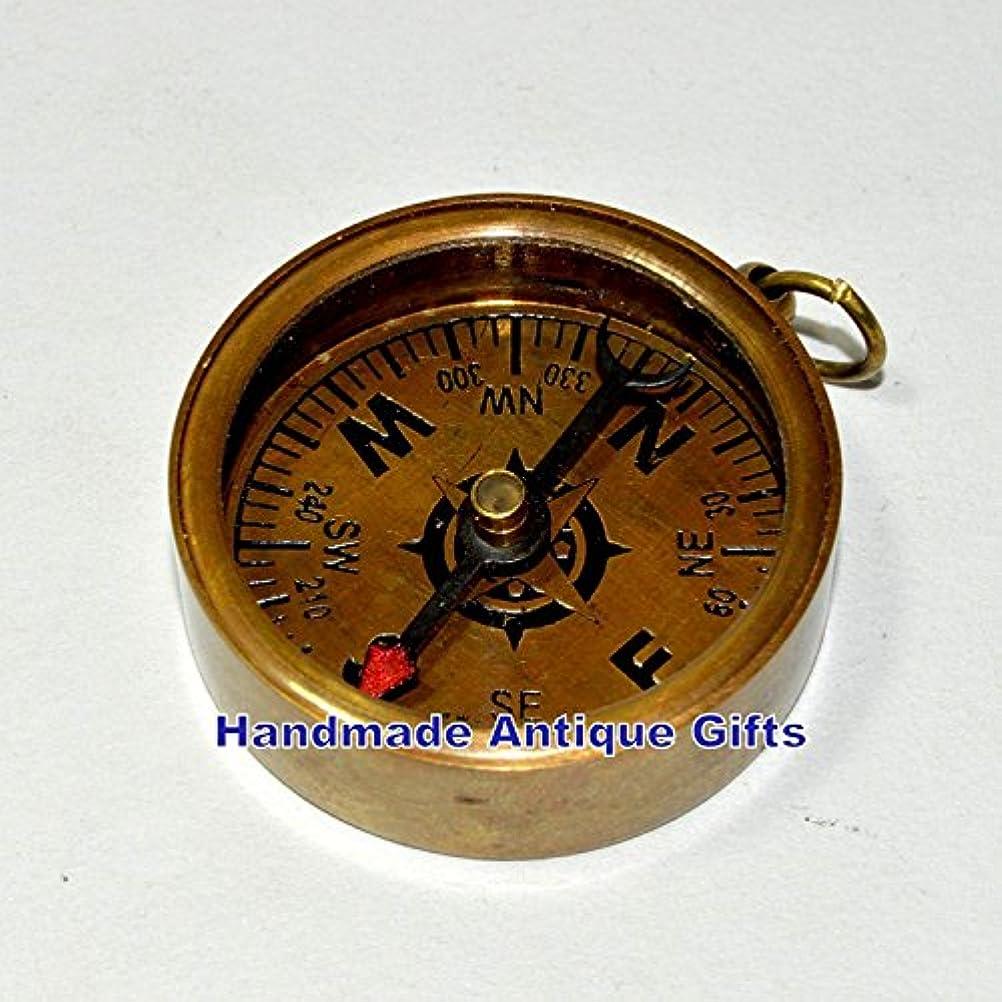 ワックス英語の授業があります強度Hello Nauticals Storeアンティーク真鍮コンパスキーチェーン真鍮コンパスキーリングギフトアイテム