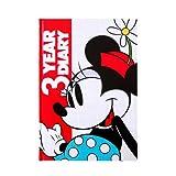 ディアカーズ 日記 3年連用 ディズニー ミニー 名入れなし【連用日記】 1202-G04-010