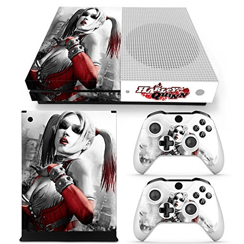 ZoomHit Xbox One S Console Skin Decal Sticker Harley Quinn + 2 Controller Skins Set [並行輸入品]