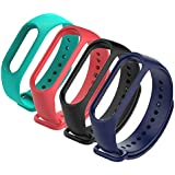4Pack Xiaomi Mi Band 3 Bracelet, Silicon Sport Replacement Strap Wristband Accessories Colorful Mi Band 3 Accessories