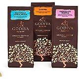 海外直送品 Signature Coffee Gift Set ゴディバ(GODIVA)フレーバーコーヒー 3種(キャラメル、チョコレートトリュフ 、ガティマラ〉 約284gx3袋
