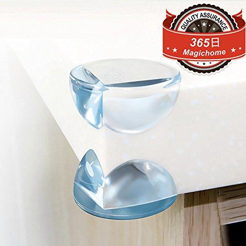 Magichome コーナークッション 家具の角に貼りやすい 超弾力 20個セット コーナーガード 優れたクッション性により赤ちゃんやお子様のケガから守る と バックアップ用 20個の強力な両面取付シール付 透明