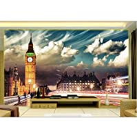 Mingld 3 Dの壁の壁画の壁紙リビングルームの壁3 Dの壁紙のタワーロンドンの家の装飾インテリアカスタム壁画写真-200X140Cm
