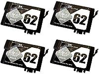 IC62 顔料互換インク 顔料ブラック単品×4個セット ICBK62