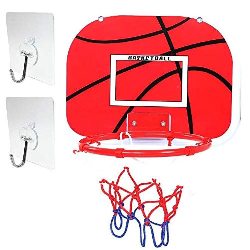 泳ぐ遠近法ルームバスケットゴール おもちゃ 子供 ミニ 吸盤式 壁取り付けバスケットボード プレゼント 贈り物 (接着フック)