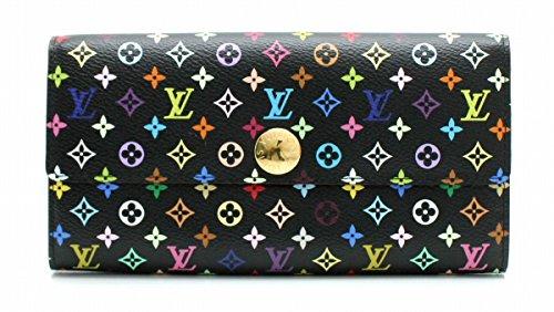 [ルイ ヴィトン] LOUIS VUITTON モノグラムマルチカラー ポルトフォイユ サラ 2つ折ファスナー長財布 ノワール 黒 ブラック M93533