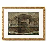 ピエト・モンドリアン Piet Mondrian 「Geinrust farm in fog」 額装アート作品