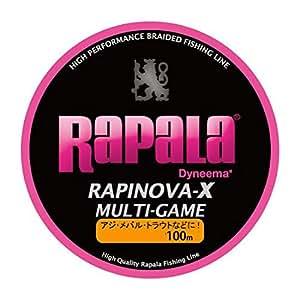 Rapala(ラパラ) PEライン ラピノヴァX マルチゲーム 100m 0.3号 7.2lb ピンク RLX100M03PK